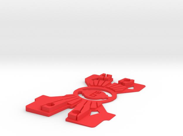 Big Shim 1.2 in Red Processed Versatile Plastic