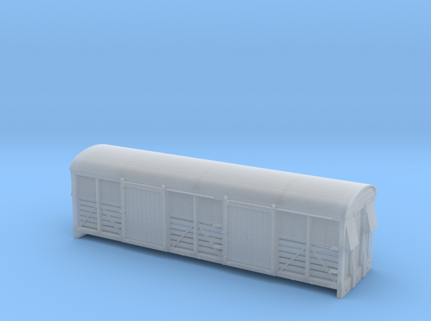 LMS 6 Wheel Milk Van body slat sides - 4mm scale in Smooth Fine Detail Plastic