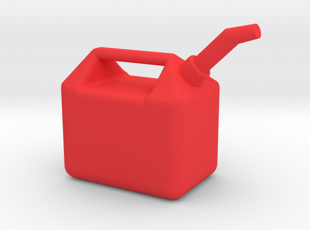 1/10 Scale Gas Can in Red Processed Versatile Plastic