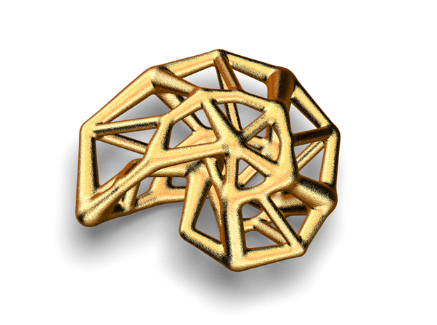 Sebshell in Polished Gold Steel