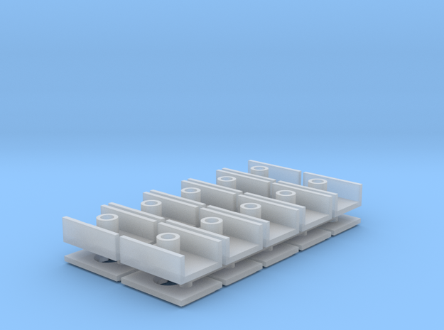 Short Coupler Box (N -1:160) 10X in Smooth Fine Detail Plastic