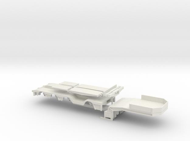 F 01-50 Tieflader ähnlich Faymonville 1:50 in White Natural Versatile Plastic