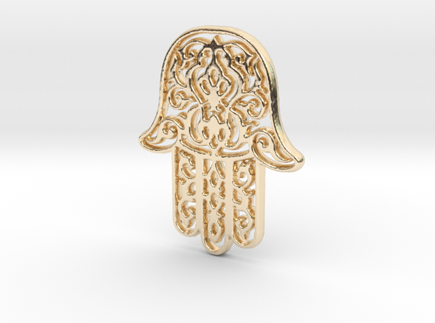 Hamsa Pendant in 14K Yellow Gold