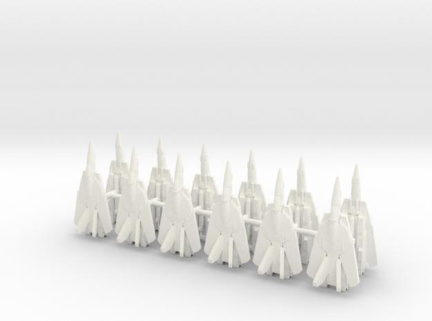 x12 VF-1S 1/700 (Fully Swept) in White Processed Versatile Plastic