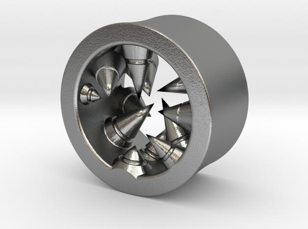 Géode cristalline (diam 10mm) in Raw Silver