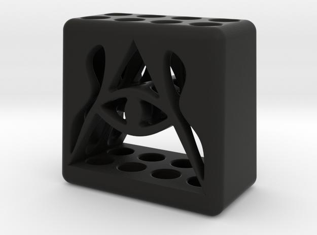 Illuminati 8 Pen Holder in Black Natural Versatile Plastic