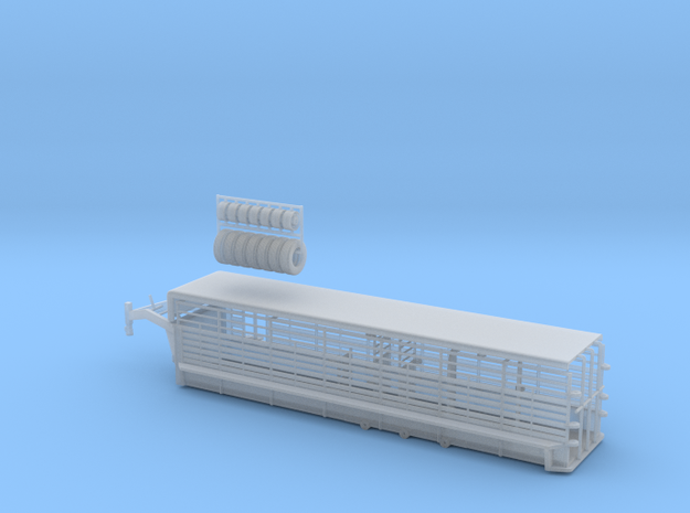 1/64 30' Cattle Trailer Bar Style in Smooth Fine Detail Plastic