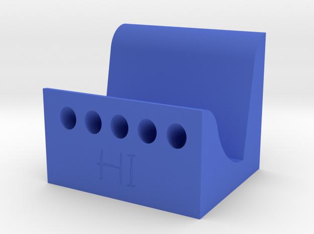 名片架 in Blue Strong & Flexible Polished