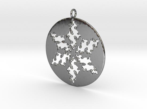 Julia Star Pendant in Fine Detail Polished Silver