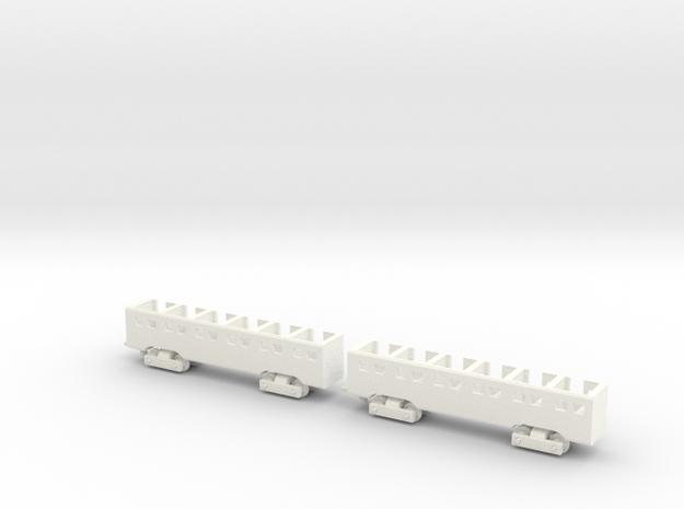 MTC G16 Cars in White Processed Versatile Plastic