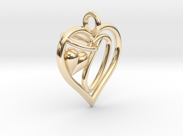HEART O in 14k Gold Plated Brass