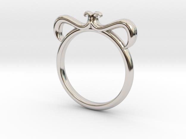 Petal Ring Size 3 in Platinum