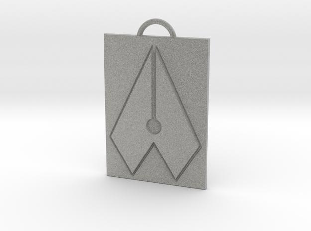 Axial Works™ Symbol: Full Keychain in Metallic Plastic