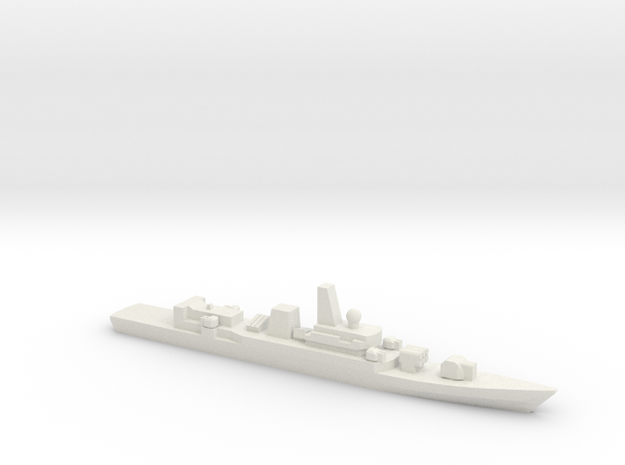 PLA[N] Type 053H2G Frigate w/ Barrels, 1/3000 in White Natural Versatile Plastic