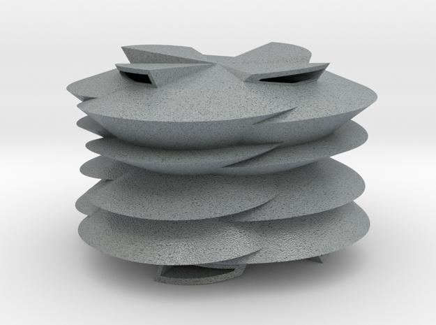 Modern Shell in Polished Metallic Plastic