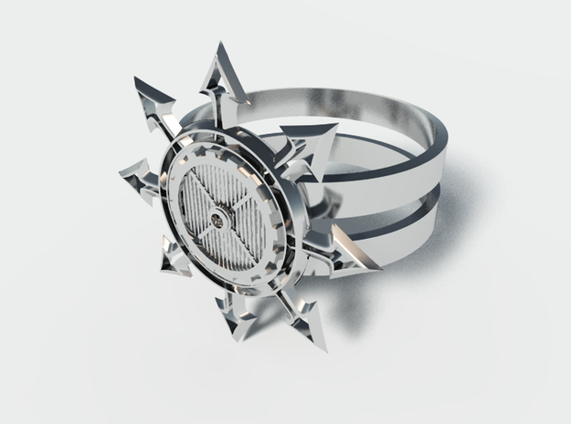 Chaos Star Ring 3d printed