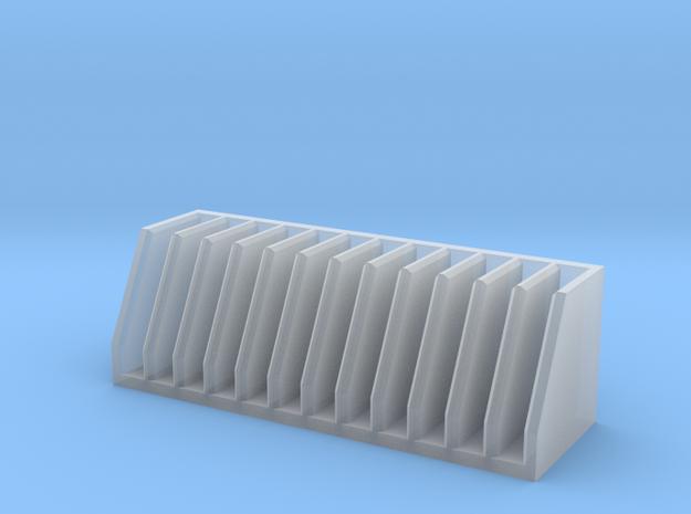 Schlauchfächer in Smooth Fine Detail Plastic