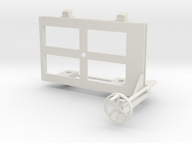 A-1-24-wagon-d-class-bogie-1a in White Natural Versatile Plastic