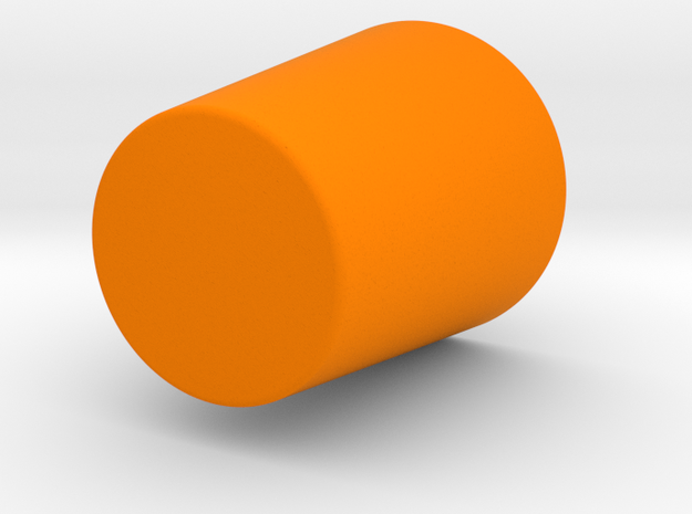 SHOT GLASS in Orange Strong & Flexible Polished