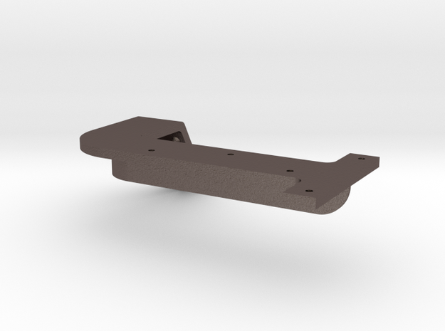 Smoke Box Right Front Runboard Support in Polished Bronzed Silver Steel