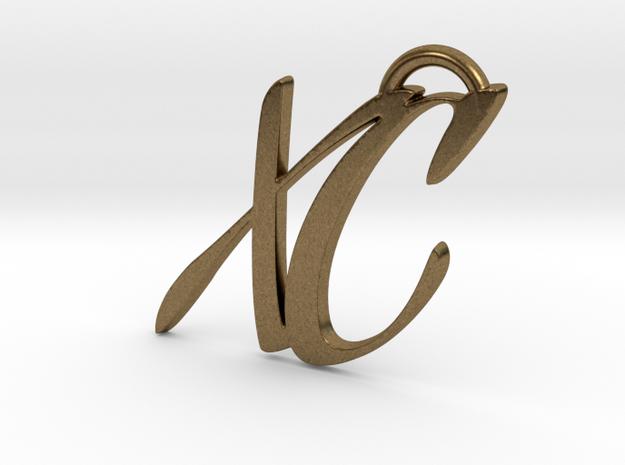 XC Keychain in Natural Bronze