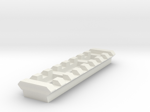 8 Slots Rail (Pre-Drilled) in White Strong & Flexible
