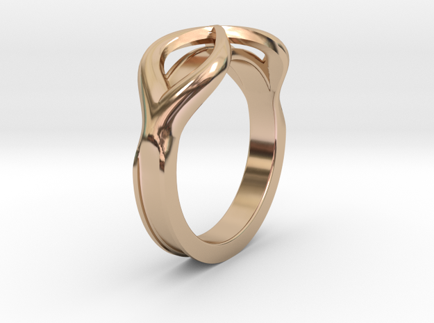 A Nice Simple Ring in 14k Rose Gold Plated