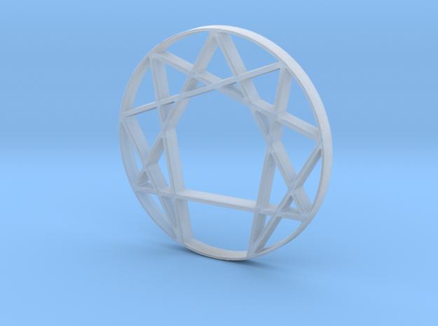 Enneagram in Smooth Fine Detail Plastic