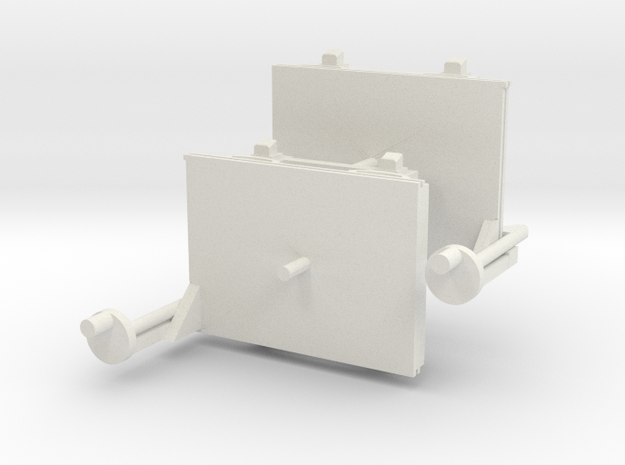 A-1-101-wagon-d-class-bogies in White Natural Versatile Plastic