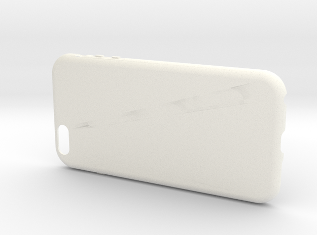 Customizable iPhone 6 plus case in White Strong & Flexible Polished