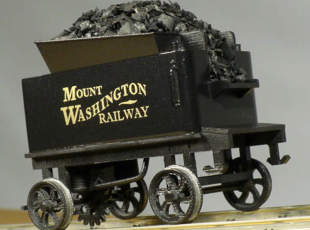 Cog Railway Tender - O Scale  in Frosted Ultra Detail