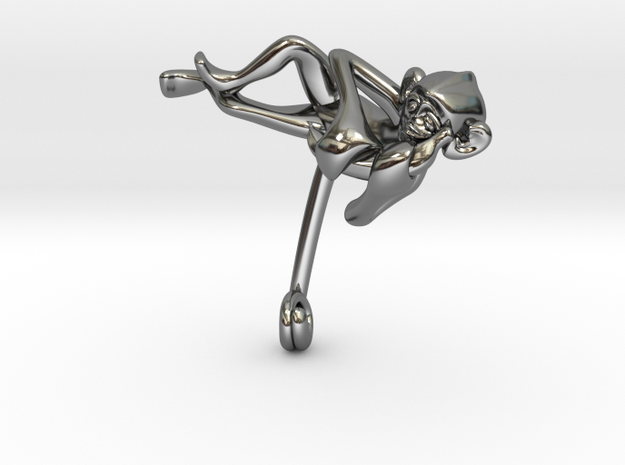 3D-Monkeys 121 in Fine Detail Polished Silver