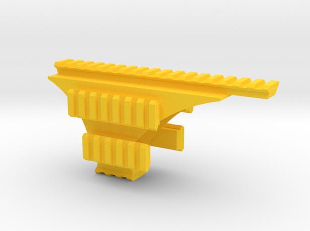 Pistol Hex-Rail in Yellow Processed Versatile Plastic