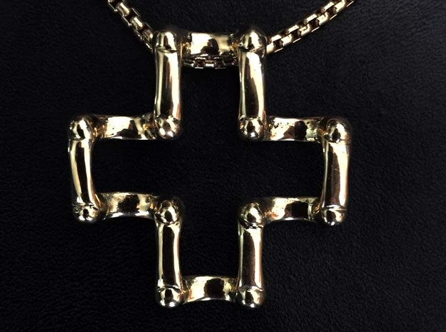 Greek Cross in 14K Yellow Gold