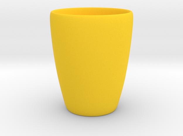 Coffee mug #1 XL - Inner ear in Yellow Processed Versatile Plastic