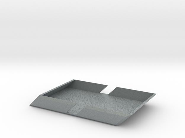 Angle Wallet in Polished Metallic Plastic