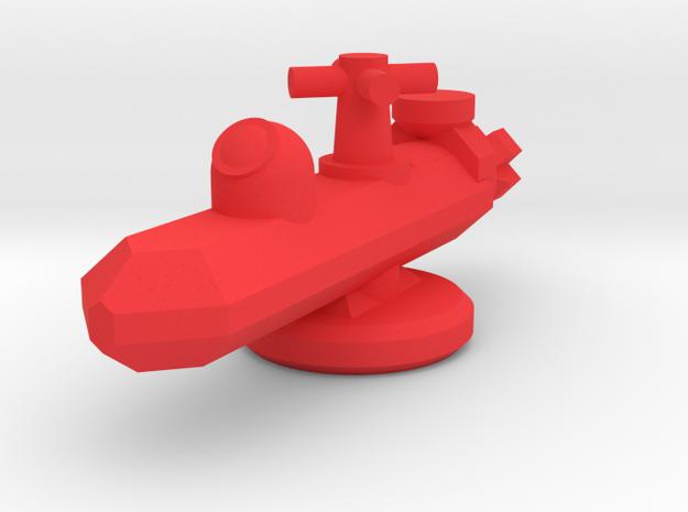 Submarine Shelves in Red Processed Versatile Plastic