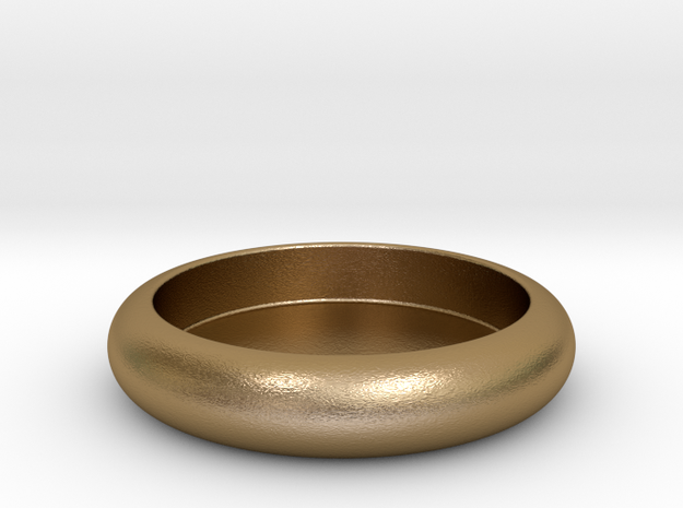 Dog 's  dish in Polished Gold Steel
