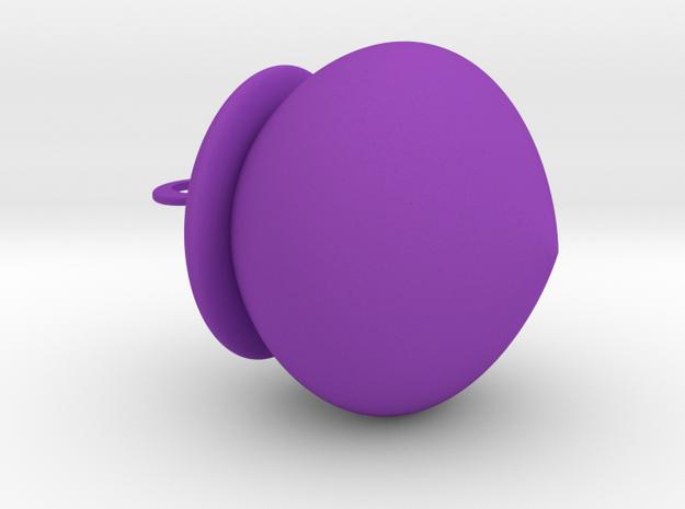 橡樹果吊飾.stl in Purple Strong & Flexible Polished