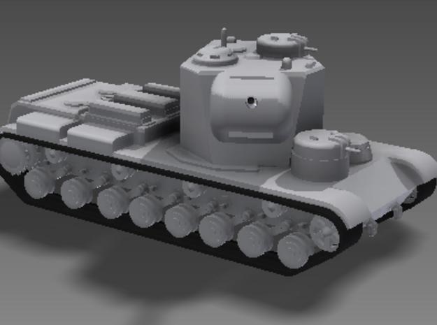"1/100 KV-5 3d printed A quintessentially Russian design, the KV-5 was ""all turret, no tank."""