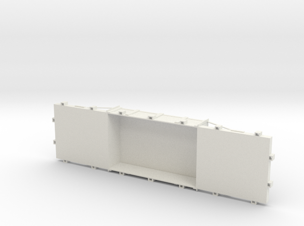 A-1-12-wdlr-f-wagon-body in White Natural Versatile Plastic