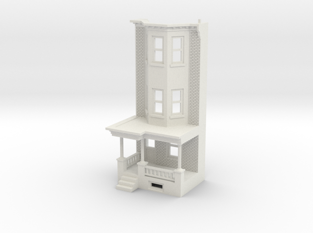 WEST PHILLY 3S ROW HOME 160 BrickLD FRONT in White Natural Versatile Plastic
