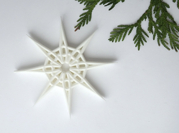 Santa's Star in White Natural Versatile Plastic