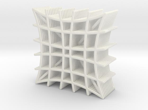 Coasters in White Processed Versatile Plastic