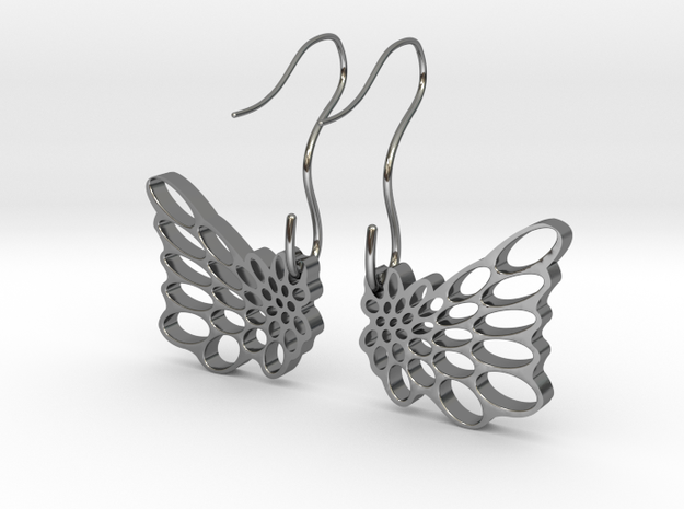 Butterfly Earrings in Premium Silver
