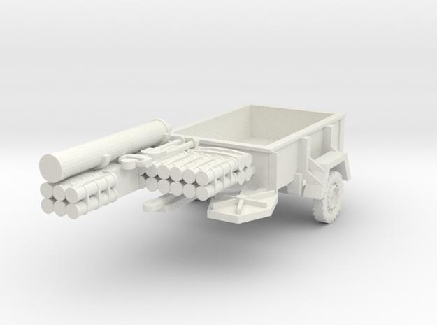 "1/72nd Scale 4.2"" Mortar Trailer in White Natural Versatile Plastic"