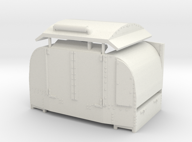 B-1-55-protected-simplex-open-doors in White Strong & Flexible