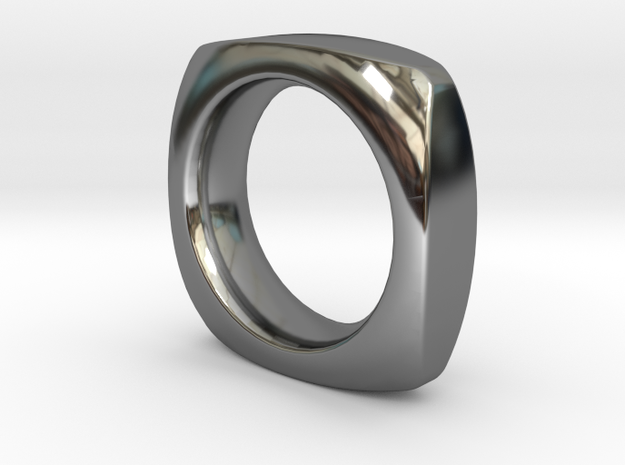 SIMPLE PILLOW  RING  SIZE 6 in Fine Detail Polished Silver
