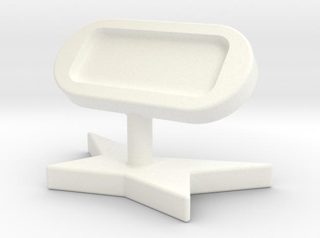 造型手機架 in White Processed Versatile Plastic