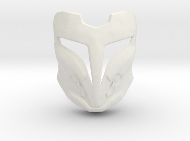 Arcann Mask Two Sided, Star Wars: The Old Republic in White Natural Versatile Plastic